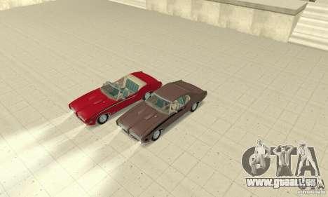 Pontiac GTO The Judge Cabriolet pour GTA San Andreas vue de côté