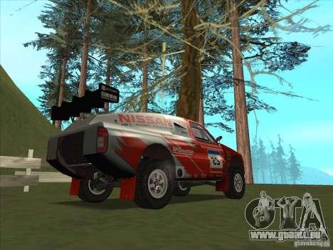 Nissan Pickup pour GTA San Andreas sur la vue arrière gauche