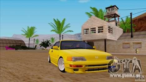 Honda CRX Hella Flush pour GTA San Andreas sur la vue arrière gauche