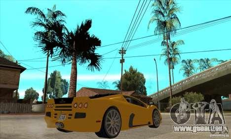 SSC Ultimate Aero FM3 version pour GTA San Andreas vue de droite