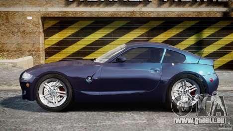 BMW Z4 V3.0 Tunable pour GTA 4 est une gauche
