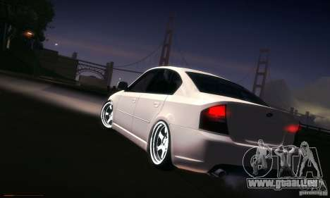 Subaru Legacy BIT edition 2004 pour GTA San Andreas vue de dessous