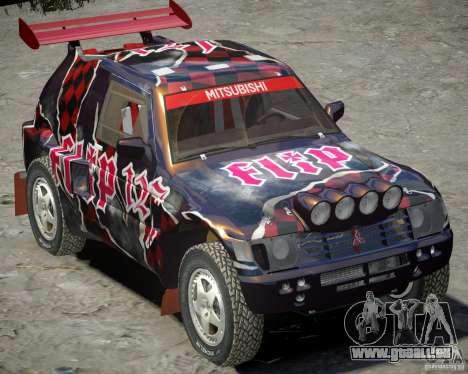 Mitsubishi Pajero Proto Dakar vinyle 3 pour GTA 4