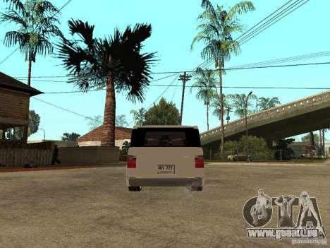 Honda Element pour GTA San Andreas sur la vue arrière gauche