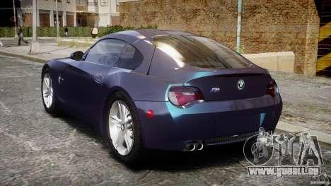 BMW Z4 V3.0 Tunable pour GTA 4 Vue arrière de la gauche