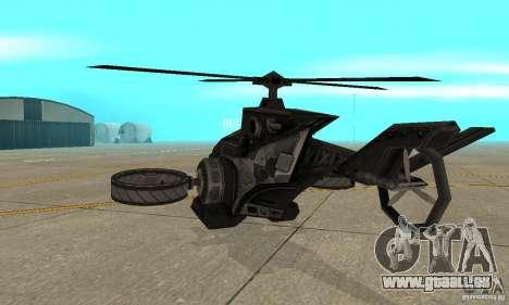 Ein Hubschrauber aus dem Spiel TimeShift Black für GTA San Andreas rechten Ansicht