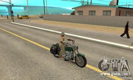 Harley Davidson FLSTF (Fat Boy) v2.0 Skin 1 pour GTA San Andreas vue de droite