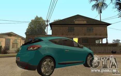 Renault Megane 3 Coupe pour GTA San Andreas vue de droite