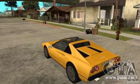 Ferrari 308 GTS Quattrovalvole pour GTA San Andreas sur la vue arrière gauche
