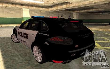 Porsche Cayenne Turbo 958 Seacrest Police pour GTA San Andreas laissé vue