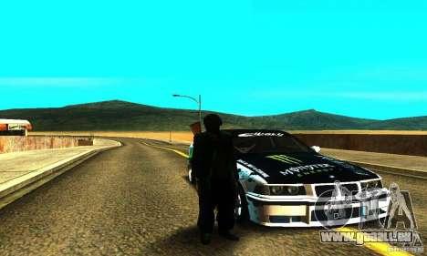 BMW E36 Drift pour GTA San Andreas sur la vue arrière gauche