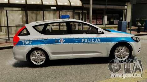 Kia Ceed 2011 SW Polish Police ELS pour GTA 4 est une gauche