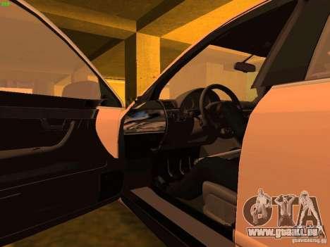 Audi S4 OEM pour GTA San Andreas vue de dessus