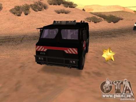 AM 7.0 Umbrella Corporation pour GTA San Andreas vue de côté
