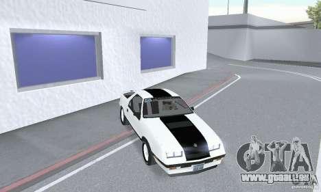 Dodge Daytona Turbo CZ 1986 pour GTA San Andreas vue de droite