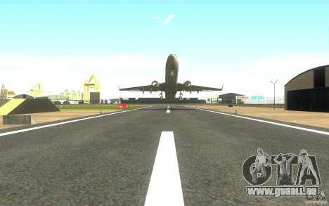 Sukhoi SuperJet-100 pour GTA San Andreas sur la vue arrière gauche