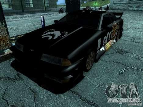 Vinyle big Lou de Most Wanted pour GTA San Andreas sur la vue arrière gauche