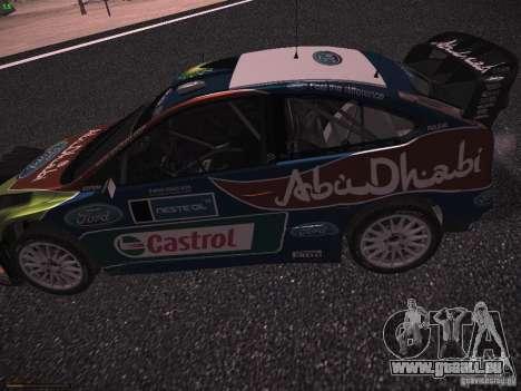 Ford Focus RS WRC 2010 pour GTA San Andreas vue arrière