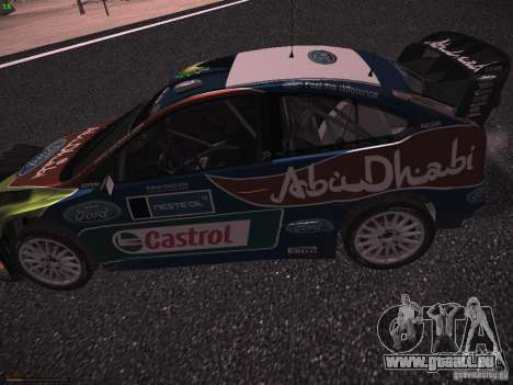 Ford Focus RS WRC 2010 für GTA San Andreas Rückansicht