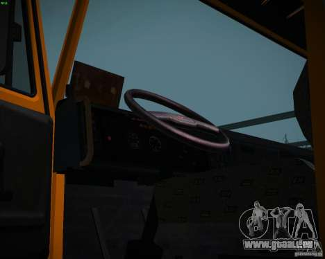 Camion à benne basculante KAMAZ 6520 pour GTA San Andreas vue de droite