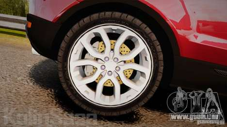 Range Rover Evoque pour GTA 4 est une vue de l'intérieur