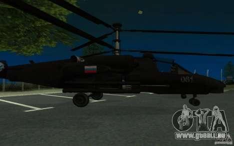 KA-52 ALLIGATOR v1.0 pour GTA San Andreas laissé vue