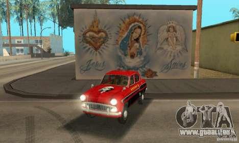 Moskvitch 407 1958 pour GTA San Andreas vue intérieure