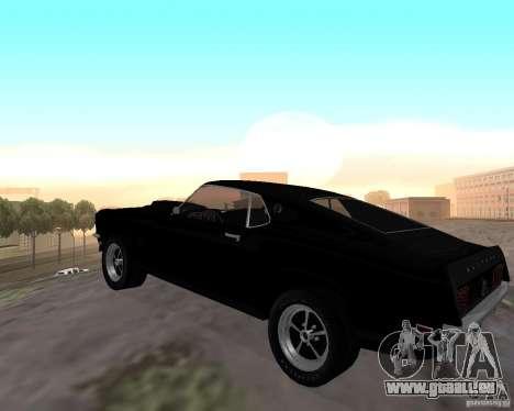 Ford Mustang Boss 1969 für GTA San Andreas zurück linke Ansicht