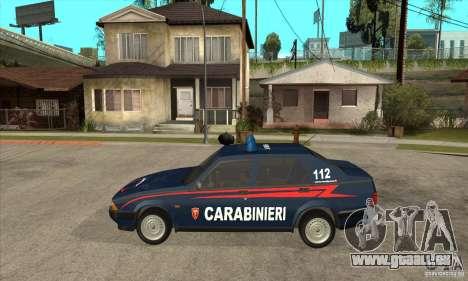 Alfa Romeo 75 Carabinieri für GTA San Andreas linke Ansicht