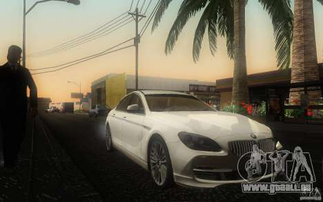 BMW 6 Series Gran Coupe 2013 für GTA San Andreas Rückansicht
