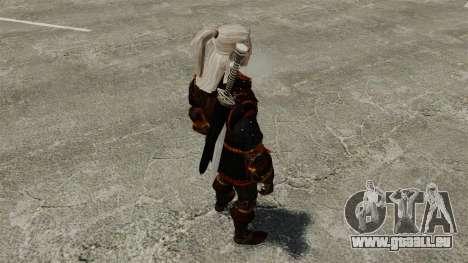 Geralt de Rivia v4 pour GTA 4 quatrième écran