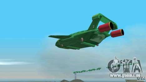 ThunderBird 2 pour une vue GTA Vice City de l'intérieur