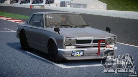 Nissan Skyline Hakosuka (KPGC10) Mountain Drift pour GTA 4 est une vue de l'intérieur