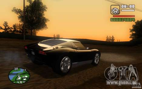 Lamborghini Miura Concept pour GTA San Andreas vue intérieure