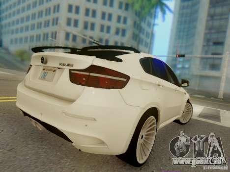 BMW X6 Hamann pour GTA San Andreas vue de côté