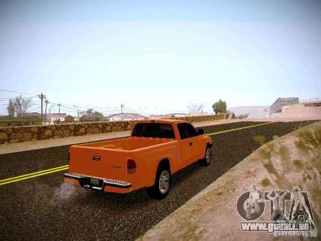 Dodge Ram 1500 Dacota pour GTA San Andreas vue de droite