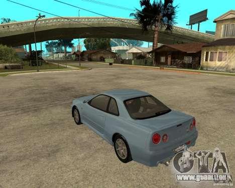 Nissan SkyLine R-34 Tunable pour GTA San Andreas vue de droite