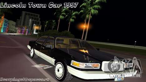 Lincoln Town Car 1997 pour GTA Vice City