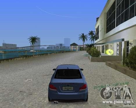 BMW 135i pour GTA Vice City sur la vue arrière gauche