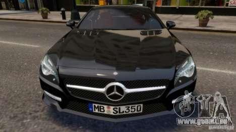 Mercedes-Benz SL 350 2013 v1.0 pour GTA 4 est une vue de l'intérieur