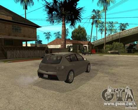 Mazda 3 Sport 2003 pour GTA San Andreas sur la vue arrière gauche