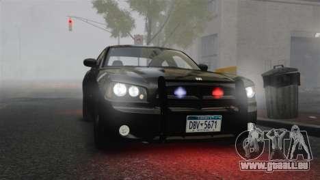 Dodge Charger RT Hemi FBI 2007 für GTA 4 Innenansicht
