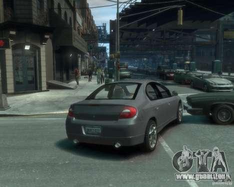 Dodge Neon 02 SRT4 pour GTA 4 Vue arrière de la gauche