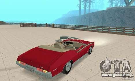 Pontiac GTO The Judge Cabriolet pour GTA San Andreas laissé vue