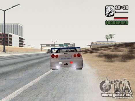 Nissan Skyline GTR34 FNF2 für GTA San Andreas linke Ansicht