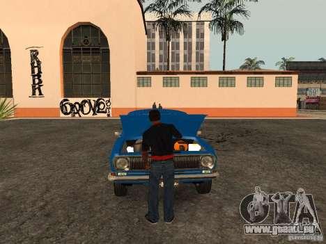 Ouvrez le coffre et capot manuellement pour GTA San Andreas troisième écran