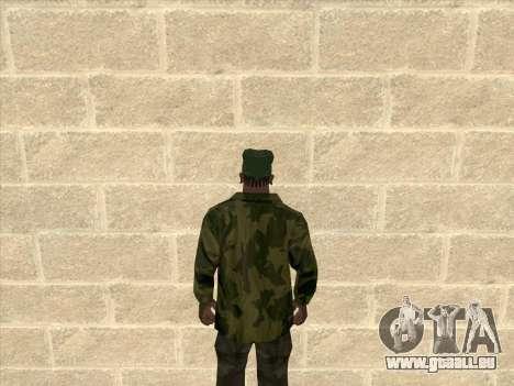 Veste camouflage pour GTA San Andreas deuxième écran