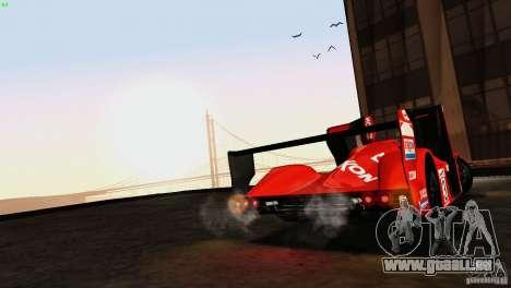 Toyota GT-One TS020 pour GTA San Andreas laissé vue