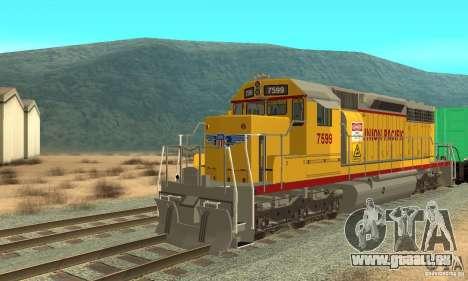 Lokomotive SD 40 Union Pacific für GTA San Andreas linke Ansicht