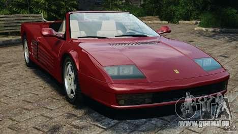 Ferrari Testarossa Spider custom v1.0 pour GTA 4